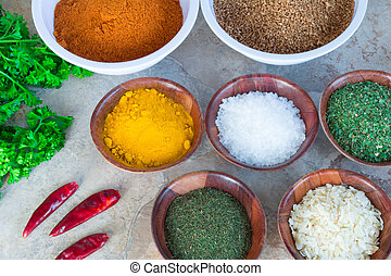 Various Cooking Spices