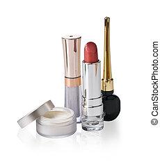 Cosmetics on white