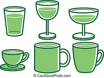 various cup icon