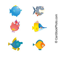 Various cute fishes collection