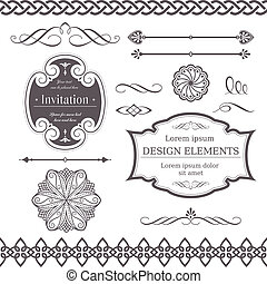 Various design elements - Set of ornate vector frames, ...