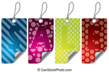 Various design labels