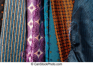 fabrics background - various different types of fabrics...