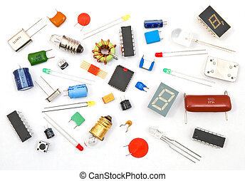 Different electronic components  Various different electronic