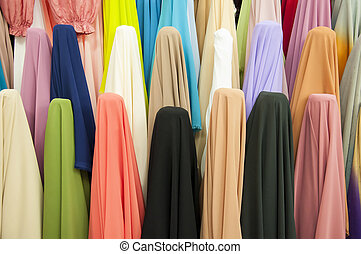 Various fabric bolts in store