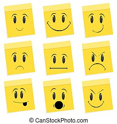 various face expressions - illustartion of expressions of...