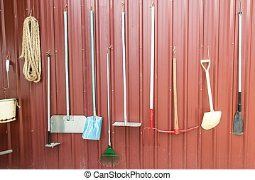 Various farming tools and equipments, taken outdoor