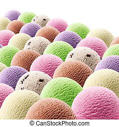 ice cream scoops - various flavor of ice cream scoops...