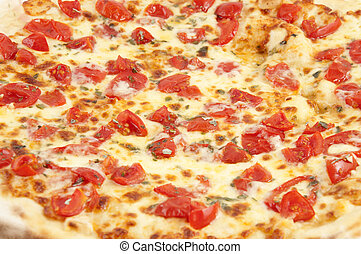 Various flavors of pizza