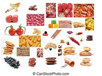 various food montage