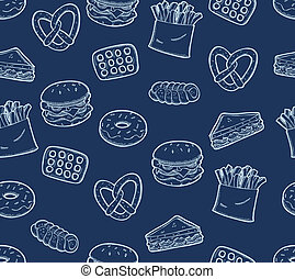 various food seamless pattern