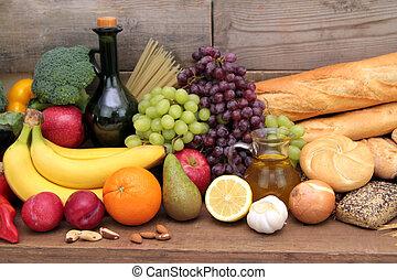 Various foods close up image