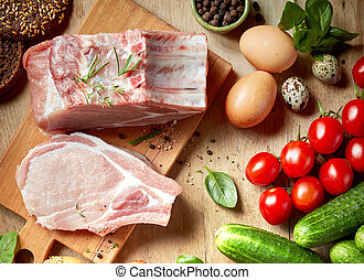 fresh raw products