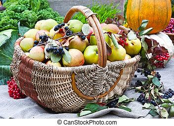 Various fruit in autumn harvest festival