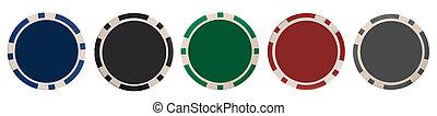 Various gambling chips