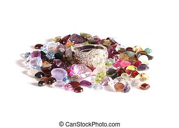 Various Gemstone Semi-Prescious Stones - Multiple Gemstone...