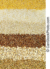 Various grains close up - Background of different kinds of...