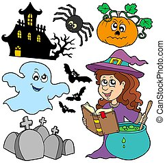 Various Halloween images 5 - isolated illustration.