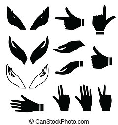 Various hand gestures - Various hand signs and gestures