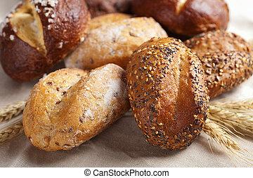 various healthy bread