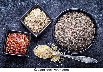 various healthy seeds collection