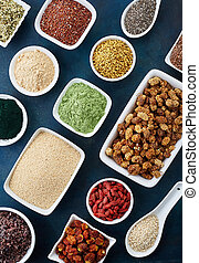 Various healthy superfoods