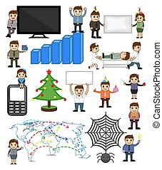Various Holiday and Business Related Cartoon Vectors