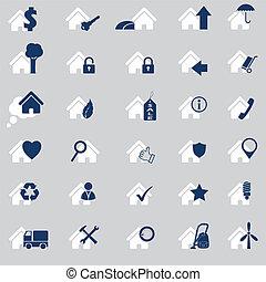 Various house icon set of 30