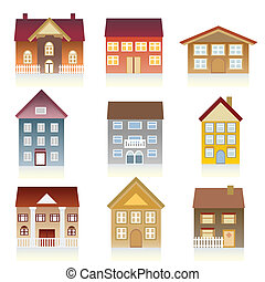 Various houses - Houses with various architectural styles