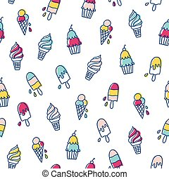 Various ice cream pattern