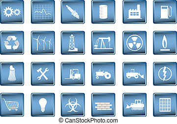 various industrial icons