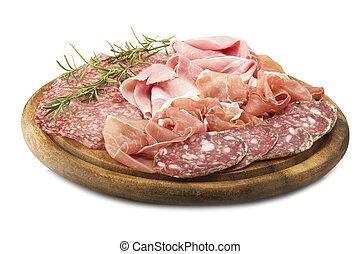 various Italian salami