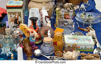 Various items on the table