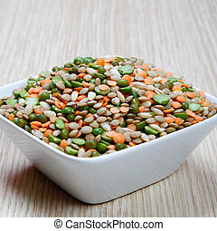 Various legumes - Legumes, peas, lentils, barley
