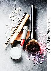Various makeup products