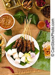 various malaysia food during hari raya ramadan festival