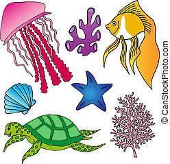 Various marine animals collection 2