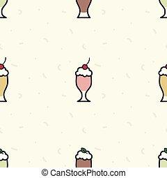 Various milkshakes background