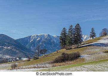 various mountains