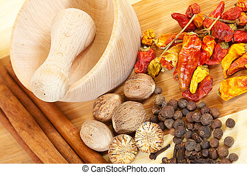 various natural spices