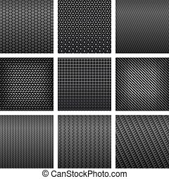 Various of carbon fiber seamless pattern backgrounds