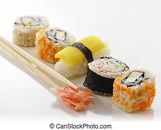 various of sushi