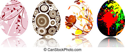 Easter eggs - Various patterned Easter eggs