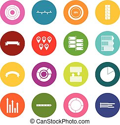 Various people icons many colors set