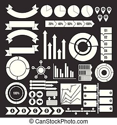 Various people icons set grey vector