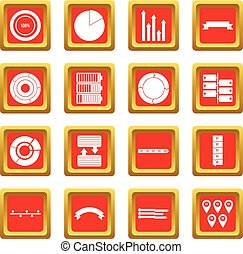 Various people icons set red