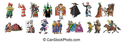 Various people in different suit - The various people in ...