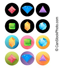 various precious stones