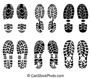 Various prints of shoe, vector Illustration
