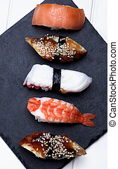 Various Sashimi Sushi